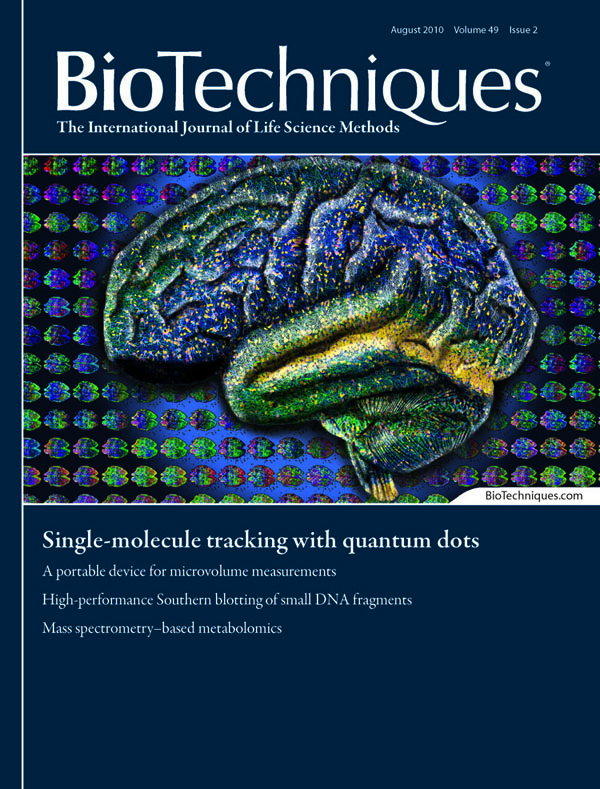 BioTechniques cover August 2010