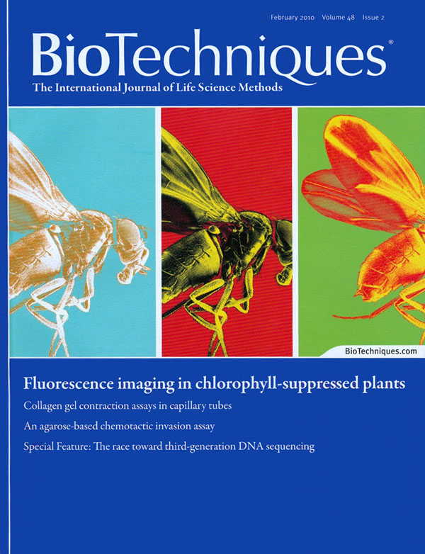 BioTechniques cover February 2010